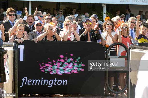 Connections of Hey Doc after winning the Australian Guineas at Flemington Racecourse on March 04 2017 in Flemington Australia
