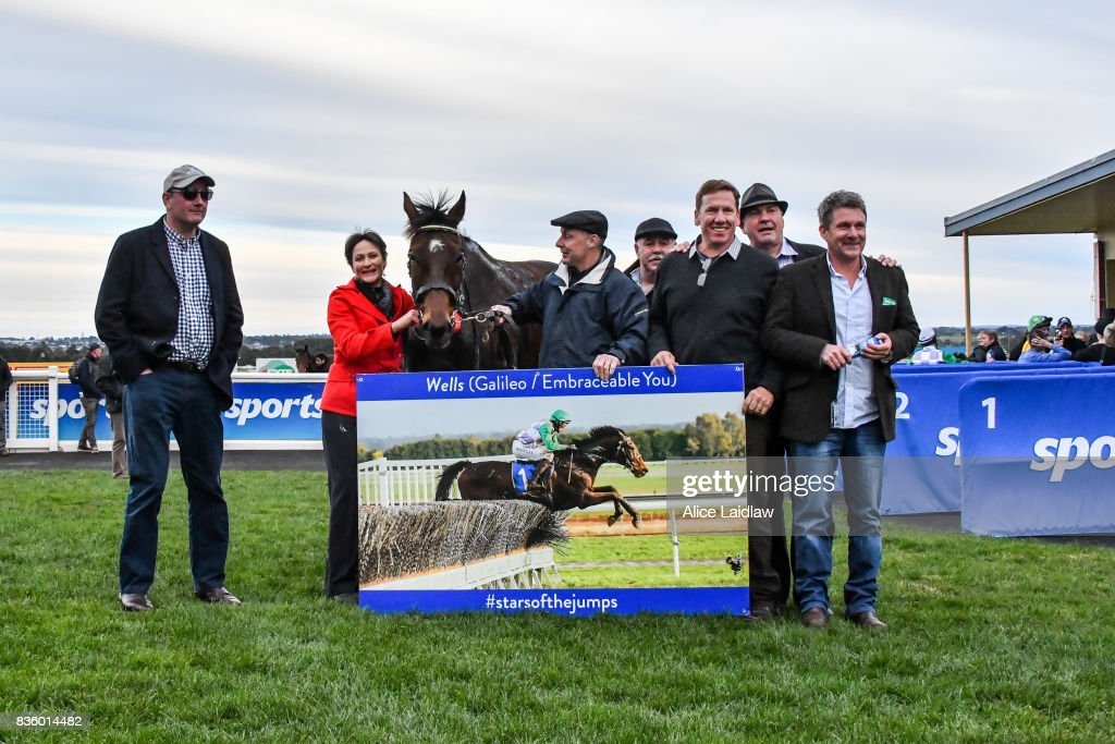 Connections of Wells after winning the E-Cycle Solutions Grand National Steeplechase at Sportsbet-Ballarat Racecourse on August 20, 2017 in Ballarat, Australia.