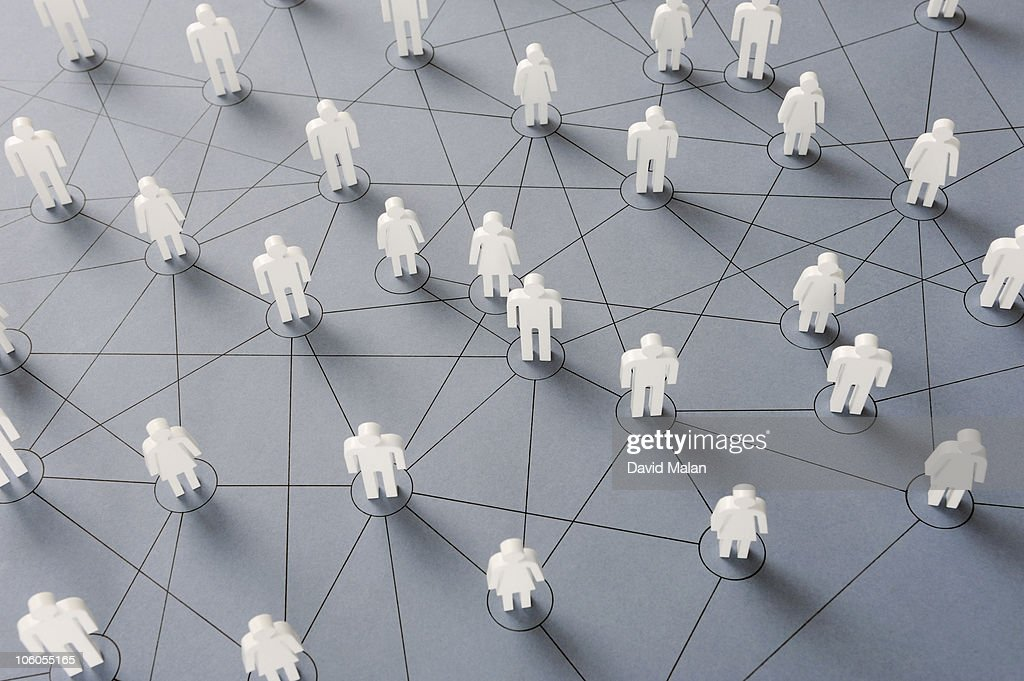 Connections within a social network : Stock Photo