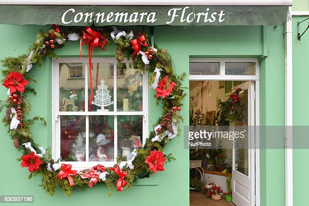 Connemara Florist one of many small businesses seen in Clifden in Connemara On Tuesday 3 January 2017 in Clifden Connemara County Galway Ireland
