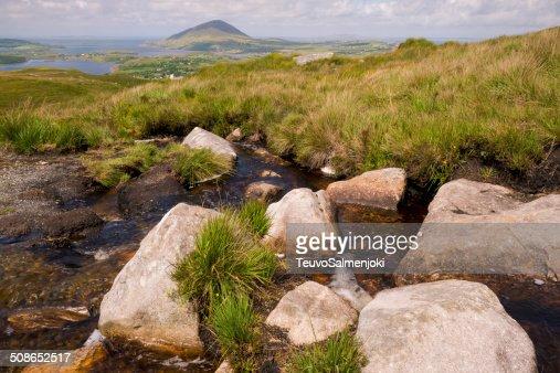 Connemara national park scenery : Stock Photo