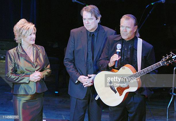 Connie Bradley Jimmy Webb and Glen Campbell during 44th Annual ASCAP Country Music Awards Show at Ryman Theater in Nashville TN United States