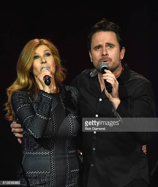 Connie Britton and Charles Esten performs during 'Nashville for Africa' a Benefit for the African Childrens Choir at the Ryman Auditorium on February...