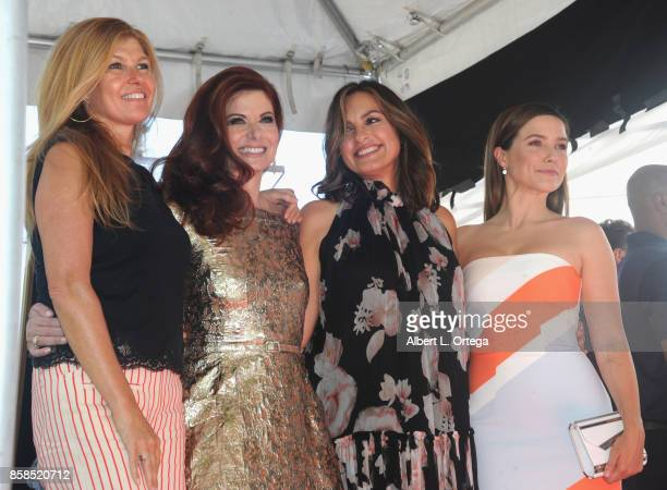 Connie Britton Debra Messing Mariska Hargitay and Sophia Bush attend Debra Messing Star Ceremony on The Hollywood Walk Of Fame held on October 6 2017...