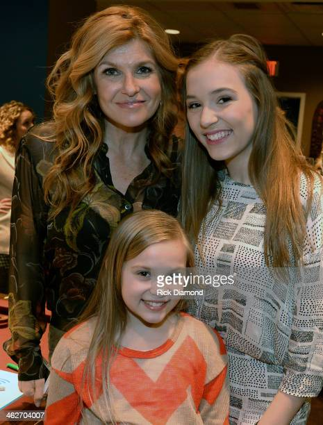 Connie Britton Lennon Stella and Maisy Stella attend Cast Of ABC's 'Nashville' Answer Questions From Fans During A SiriusXM 'Town Hall' Special at...