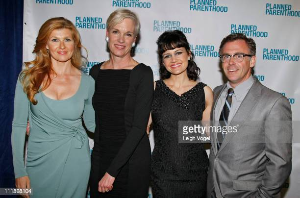 Connie Britton Nancy Keenan Carla Gugino and David Eigenberg attend the Planned Parenthood National Awards Gala at Omni Shoreham Hotel on April 7...