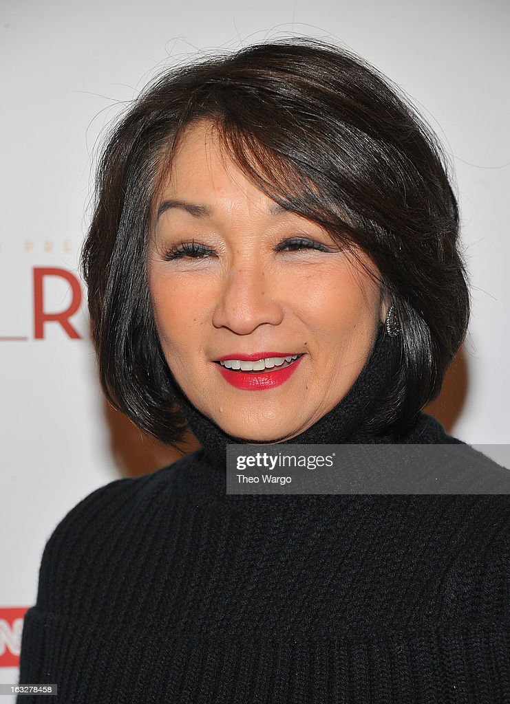 <a gi-track='captionPersonalityLinkClicked' href=/galleries/search?phrase=Connie+Chung&family=editorial&specificpeople=224659 ng-click='$event.stopPropagation()'>Connie Chung</a> attends the 'Girl Rising' premiere at The Paris Theatre on March 6, 2013 in New York City.
