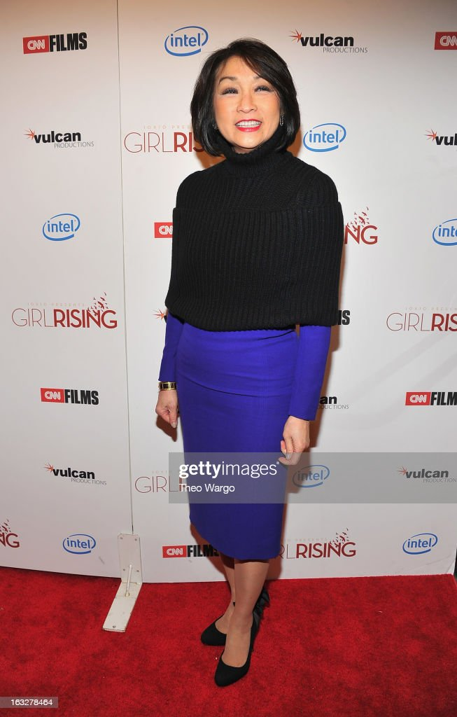Connie Chung attends the 'Girl Rising' premiere at The Paris Theatre on March 6, 2013 in New York City.