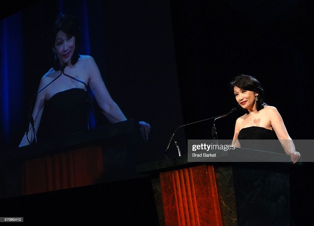 Connie Chung speaks at the 2006 New York Emmy Awards at the the Marriott Marquis on March 12, 2006 in New York City. Chung presesented husband Maury Povich the Governors award which is an honorary Emmy that recognizes outstanding achievements in the television industry.