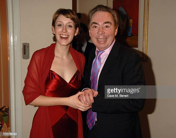 Connie Fisher and Andrew Lloyd Webber attend the press night of 'The Sound Of Music' at the Palladium on November 15 2006 in London England