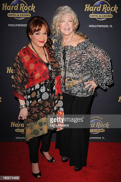 Connie Francis and Connie Stevens attend Footlighters Club Roast of Sal Richards at Hard Rock Live in the Seminole Hard Rock Hotel Casino on January...