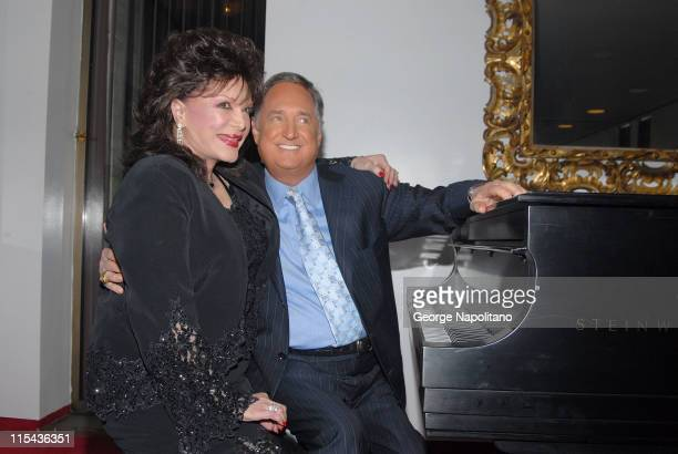 Connie Francis and Neil Sedaka backstage prior to the show ' Neil Sedake Celebrates Fifty Years of Hits' at Lincoln's Center Avery Fischer Hall on...
