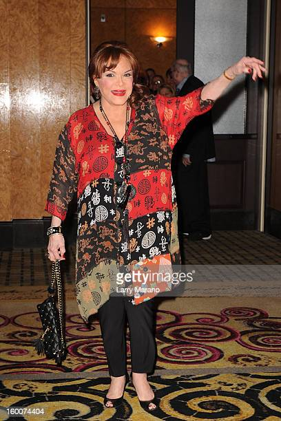 Connie Francis attends Footlighters Club Roast of Sal Richards at Hard Rock Live in the Seminole Hard Rock Hotel Casino on January 25 2013 in...