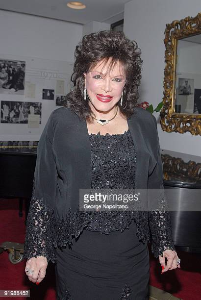 Connie Francis backstage prior to the show ' Neil Sedake Celebrates Fifty Years of Hits' at Lincoln's Center Avery Fischer Hall on October 26 2007