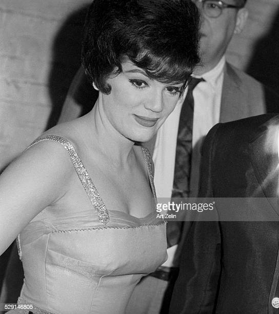 Connie Francis in a formal dress circa 1970 New York