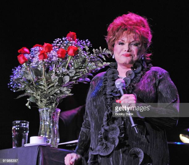 Connie Francis performs at the Trump Taj Mahal on April 22 2009 in Atlantic City New Jersey