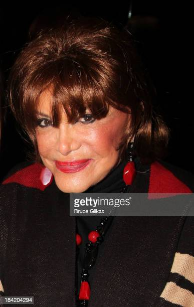 Connie Francis poses backstage at Nicolas King's show at Don't Tell Mama on October 11 2013 in New York City