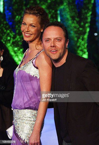 Connie Nielsen and Lars Ulrich during 2005 Vanity Fair Oscar Party at Mortons in Los Angeles California United States