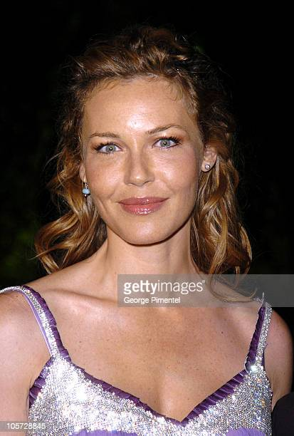 Connie Nielsen during 2005 Vanity Fair Oscar Party Arrivals at Mortons in Los Angeles California United States