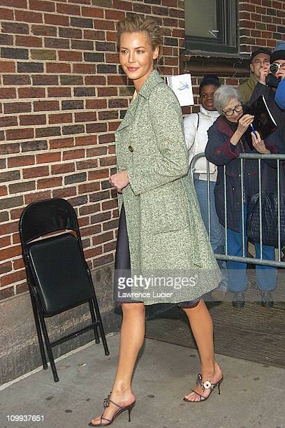 Connie Nielsen during Connie Nielsen Arrives At David Letterman at Ed Sullivan Theater in New York New York United States