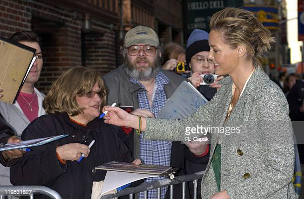 Connie Nielsen during Connie Nielsen Bob Dole and Jeff Foxworthy Visit the 'Late Show with David Letterman' March 24 2003 at Ed Sullivan Theater in...