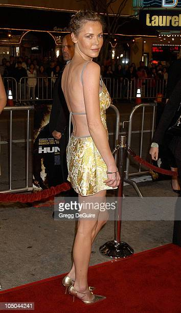 Connie Nielsen during 'The Hunted' Premiere at Mann Village Theatre in Westwood California United States