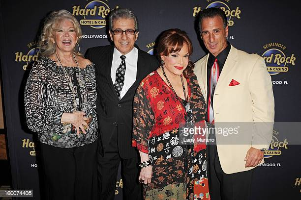 Connie Stevens Sal Richards Connie Francis and Guy Richards attend Footlighters Club Roast of Sal Richards at Hard Rock Live in the Seminole Hard...