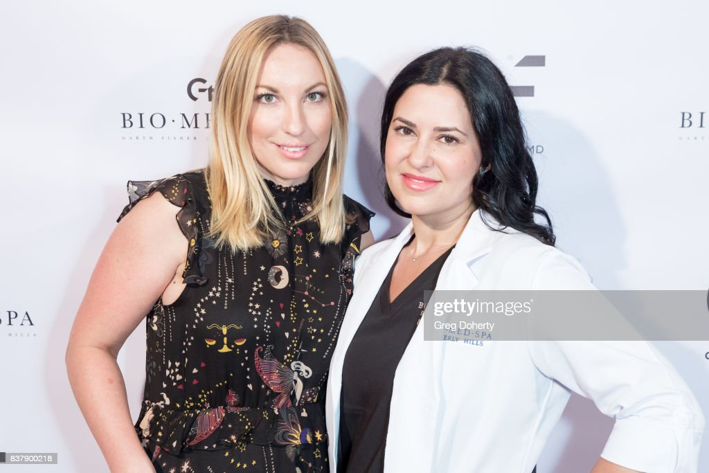Connie Williamson and Natalie Banchick attend the Official Launch Party Of Dr. Garth Fisher's BioMed Spa at Garth Fisher MD on August 22, 2017 in Beverly Hills, California.