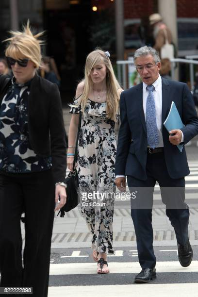 Connie Yates the mother of terminally ill baby Charlie Gard arrives at the High Court on July 25 2017 in London England After a fivemonth campaign...