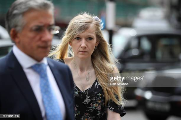 Connie Yates the mother of terminally ill baby Charlie Gard arrives at the High Court on July 26 2017 in London England After a fivemonth campaign...