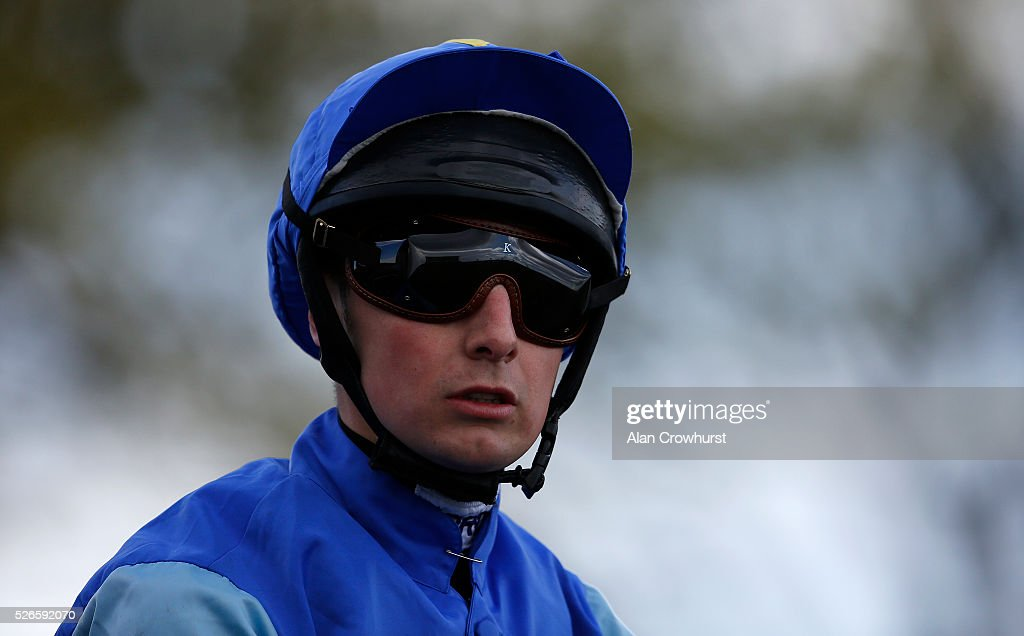 Connor Beasleypn poses at Newmarket racecourse on April 30, 2016 in Newmarket, England.