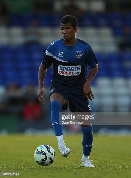 Connor Brown of Oldham Athletic during the pre season friendly at SportsDirectcom Park on July 15 2014 in Oldham England