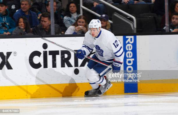Connor Brown of the Toronto Maple Leafs skates against the San Jose Sharks at SAP Center on February 28 2017 in San Jose California