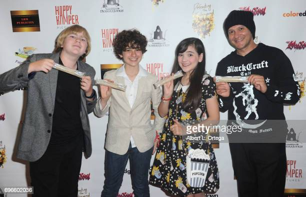 Connor Dean Malcolm Jax Chloe Noelle and Neil D'Monte arrive for the Premiere Of 'Front Men' And 'Like Them' held at The Downtown Independent on June...