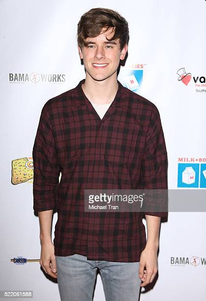 Connor Franta arrives at the 7th Annual Milk Bookies' Story Time celebration held at California Market Center on April 17 2016 in Los Angeles...