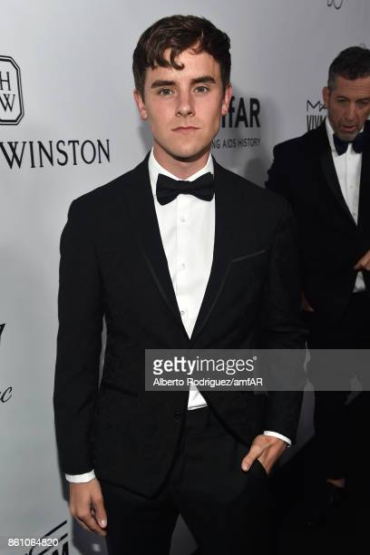 Connor Franta attends the amfAR Gala Los Angeles 2017 at Ron Burkle's Green Acres Estate on October 13 2017 in Beverly Hills California