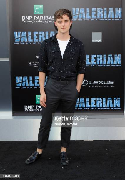 Connor Franta attends the premiere of EuropaCorp and STX Entertainment's 'Valerian and The City of a Thousand Planets' at TCL Chinese Theatre on July...