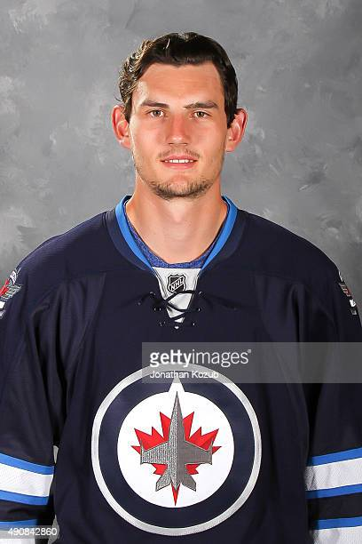 Connor Hellebuyck of the Winnipeg Jets poses for his official headshot for the 20152016 season on September 17 2015 at the MTS Centre in Winnipeg...