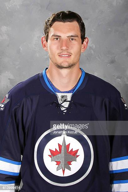 Connor Hellebuyck of the Winnipeg Jets poses for his official headshot for the 20162017 season on September 22 2016 at the MTS Centre in Winnipeg...