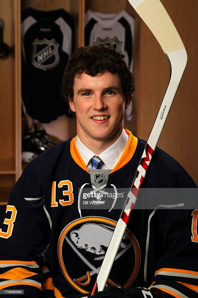 Connor Hurley, 38th pick overall by the Buffalo Sabres, poses for a portrait during the 2013 NHL Draft at Prudential Center on June 30, 2013 in Newark, New Jersey.