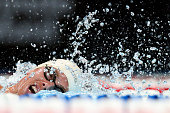 Connor Jaeger of the United States competes in a heat for the Men's 1500 Meter Freestyle during Day Seven of the 2016 US Olympic Team Swimming Trials...