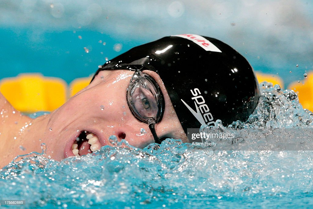 <a gi-track='captionPersonalityLinkClicked' href=/galleries/search?phrase=Connor+Jaeger&family=editorial&specificpeople=9496555 ng-click='$event.stopPropagation()'>Connor Jaeger</a> of the USA competes during the Swimming Men's Freestyle 1500m Final on day sixteen of the 15th FINA World Championships at Palau Sant Jordi on August 4, 2013 in Barcelona, Spain.
