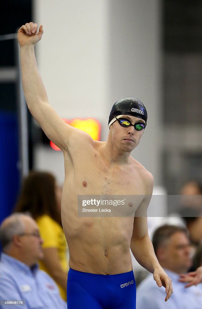<a gi-track='captionPersonalityLinkClicked' href=/galleries/search?phrase=Connor+Jaeger&family=editorial&specificpeople=9496555 ng-click='$event.stopPropagation()'>Connor Jaeger</a> prepares for the men's 500 yard freestyle final during the USA Swimming 2014 AT&T Winter National Championships at the Greensboro Aquatic Center on December 4, 2014 in Greensboro, North Carolina.