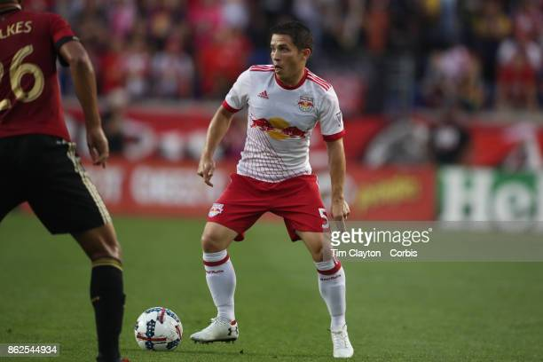 Connor Lade of New York Red Bulls in action during the New York Red Bulls Vs Atlanta United FC MLS regular season match at Red Bull Arena Harrison...