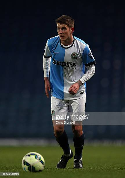 Connor Mahoney of Blackburn Rovers in action during the Under 21 Premier League Cup Final First Leg match between Blackburn Rovers and Southampton at...