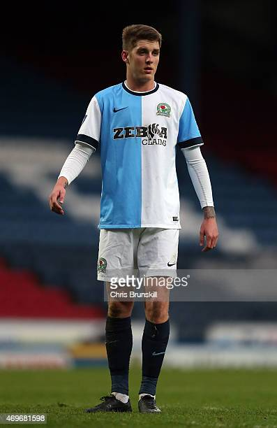 Connor Mahoney of Blackburn Rovers looks on during the Under 21 Premier League Cup Final First Leg match between Blackburn Rovers and Southampton at...