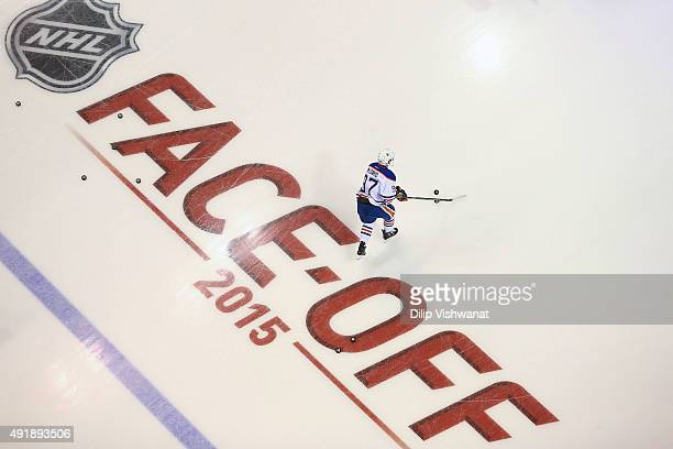Connor McDavid of the Edmonton Oilers skates during warmups prior to playing against the St Louis Blues at the Scottrade Center on October 8 2015 in...