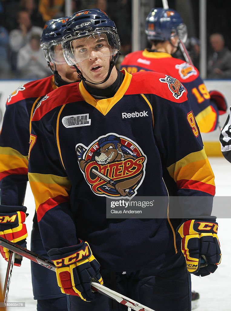 Connor McDavid #97 of the Erie Otters skates against the London Knights during an OHL game at the Budweiser Gardens on October 25, 2013 in London, Ontario, Canada. The Otters defeated the Knights 5-1.