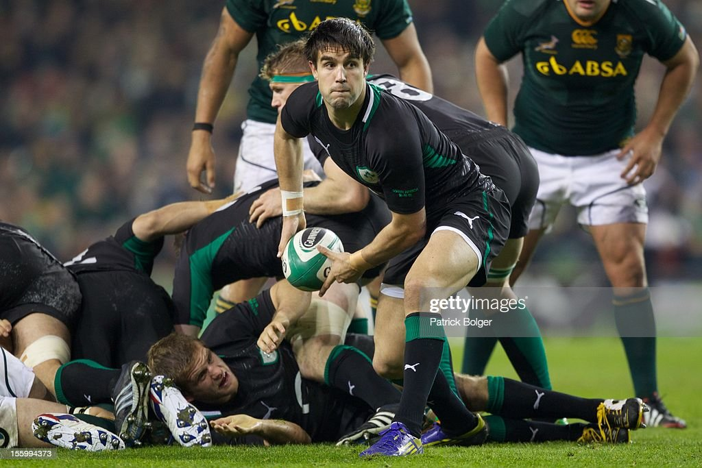 Connor Murray of Ireland compete during the International rugby match between Ireland and South Africa in the Aviva Stadium on November 10, 2012 in Dublin, Ireland.