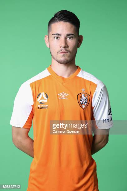 Connor O'Toole poses during the Brisbane Roar 2017/18 ALeague Headshots Session at Fox Sports Studios on September 15 2017 in Sydney Australia